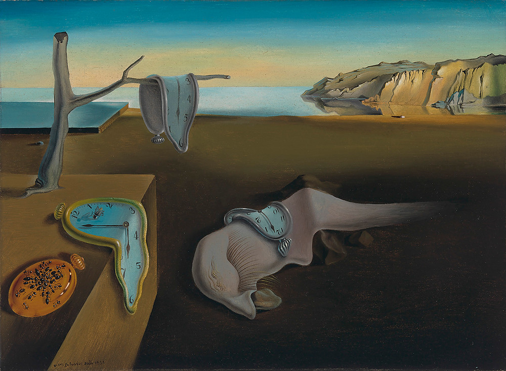 The Persistence of Memory by Dali as inspiration for Dali's Drooping Dream Art blog