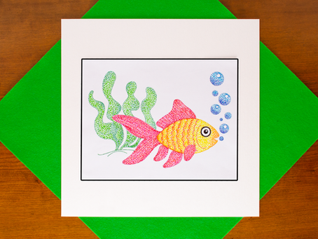 Pointillist Marker Art