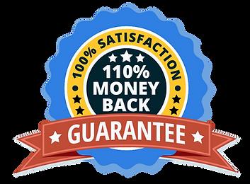 Art Adventure Box guarantee badge promises 100% customer satisfaction or will return 110% of purchase price to customer