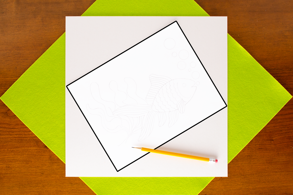 pencil outline for Pointillist Marker Art Craft with pencil