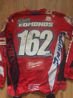 Signed shirt from Irish mx star stuey 162ey Stuart Edmonds