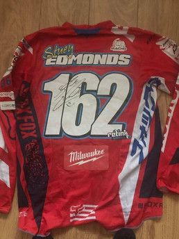 Signed shirt from Irish mx star stuey 162ey Stuart Edmonds
