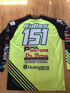 Shirt from Finland mx star Harri Kullas