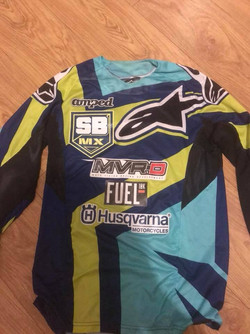 Motorcross shirt UK MX rider Jordan Booker
