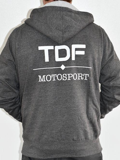 TDF Zip up Hoodie Grey