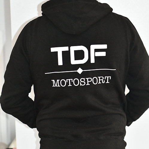 TDF Zip up Hoodie Black