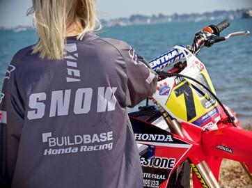 Signed MX rider Alex Snow shirt