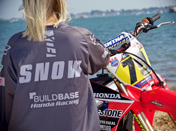 Signed MX rider Alex Snow shirt