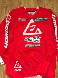 Signed shirt from British mx rider Jamie Law