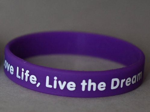 Love life, live the dream wristband