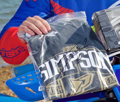 Signed Shaun Simpson t shirt