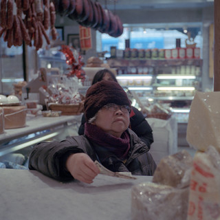 A customer waits in line to be served at Di Palos on Feb 13 2016. Little Italy, New York