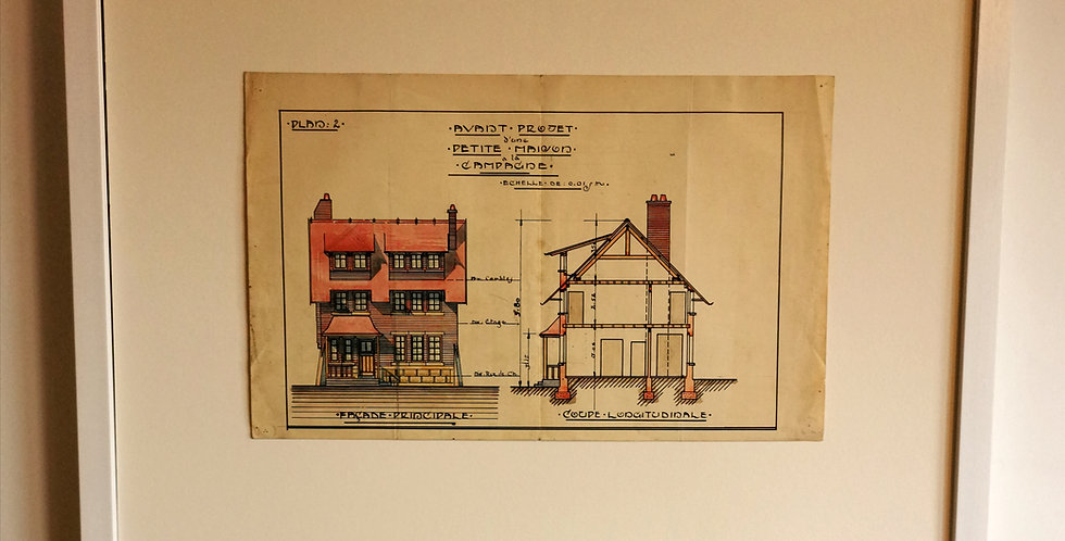 1925 ARCHITECT DRAWING
