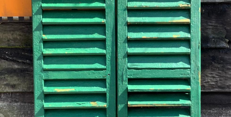 PAIR OF GREEN WINDOW  SHUTTERS A1