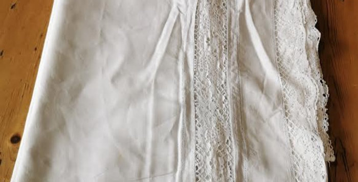 Edwardian lace edged sheet.