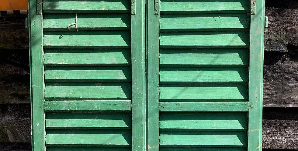 PAIR OF GREEN WINDOW  SHUTTERS A12