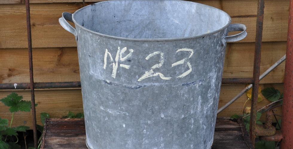 GALVANIZED METAL PLANTER No23