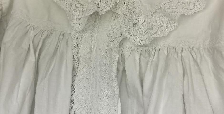 Victorian heavy cotton night gown