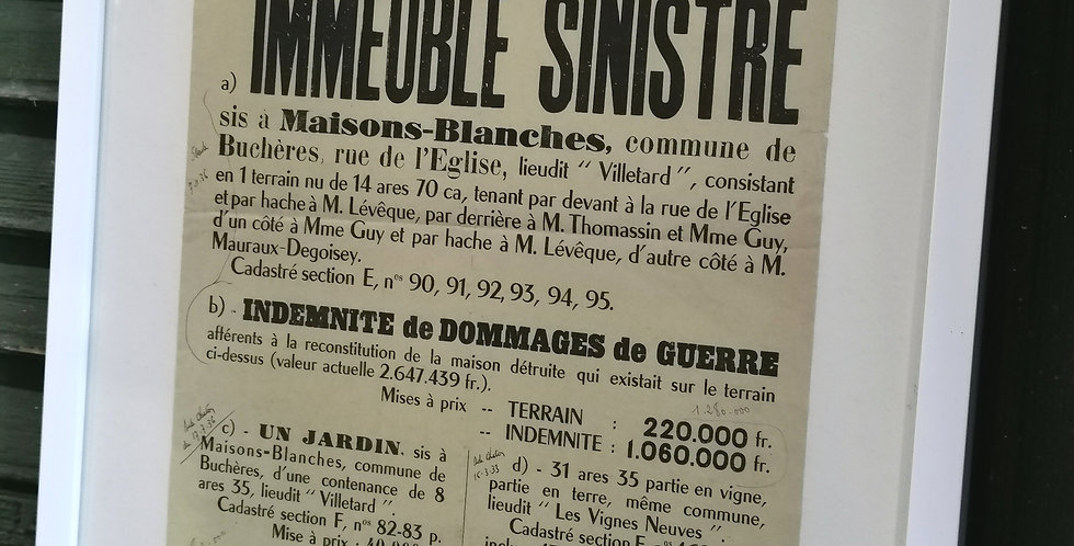 FRENCH  NOTAIRE POSTER