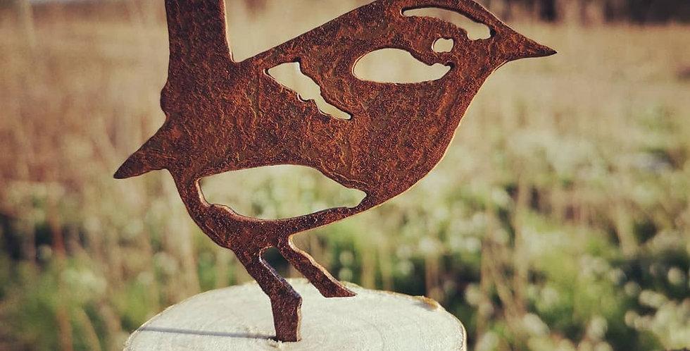 Rusty metal bird