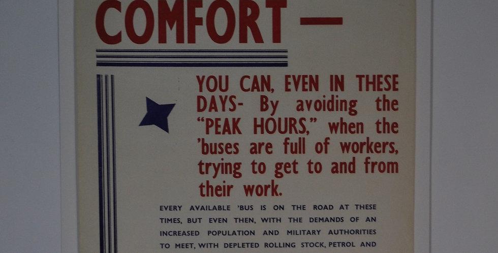 1940 WAR TIME POSTER