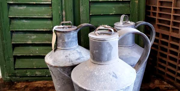 VINTAGE GALVINIZED WATER CONTAINERS