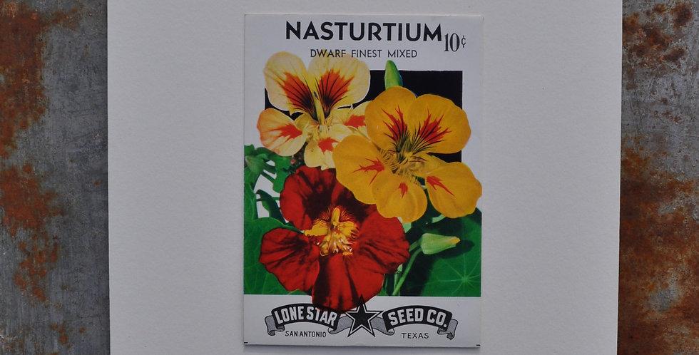 VINTAGE NASTURTIUM SEED PACKET