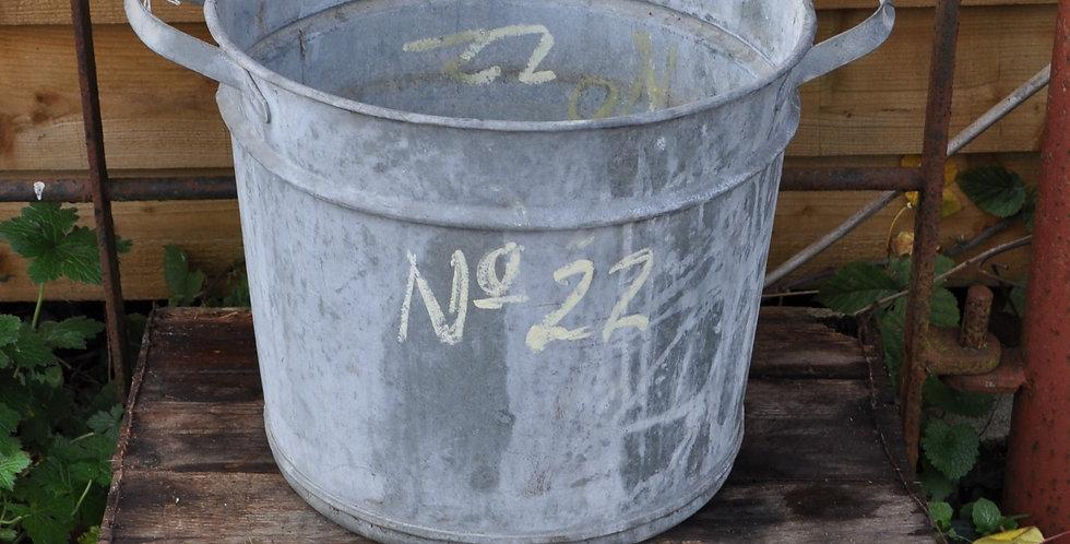 GALVANIZED METAL PLANTER No22