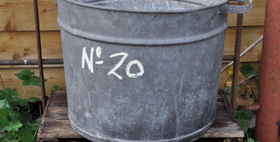 GALVANIZED METAL PLANTER No20