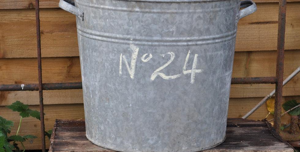 GALVANIZED METAL PLANTER No24