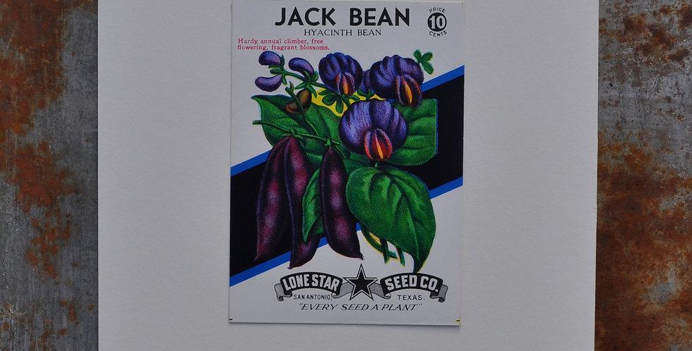 VINTAGE JACK BEAN SEED PACKET