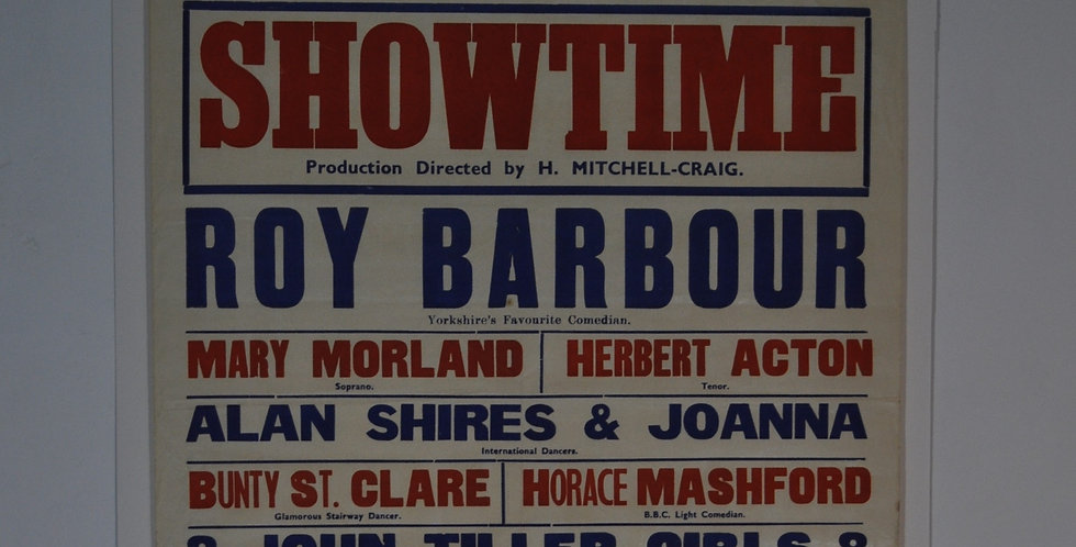 1950s SHOWTIME  POSTER