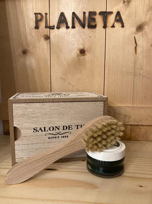 Box regalo in scatola di legno - piccolo (pelle)