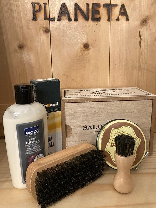 Box regalo in scatola di legno - medio (pelle)