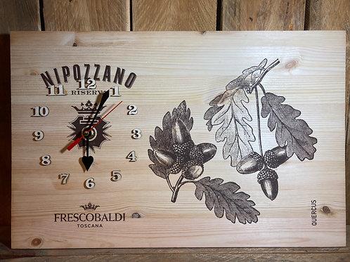 Orologio legno confezione Frescobaldi