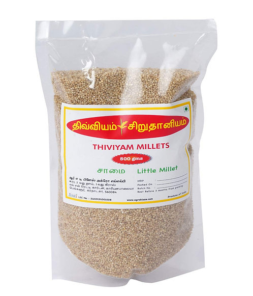Thiviyam Little Millet (Samai Saame Kutki Samalu) Unpolished 500gm