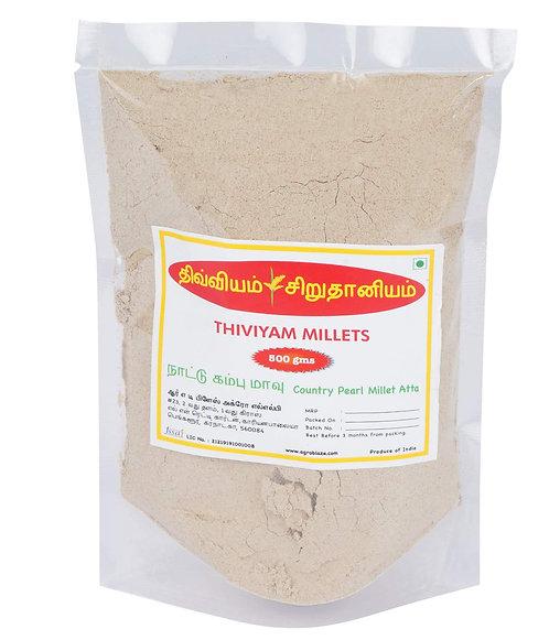 Thiviyam Country Bajra (NATI Kambu, Bajri, Sajje, Sajjalu) Flour 500 gm