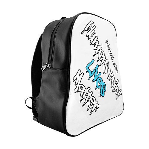Blue HP Lives Matter School Backpack