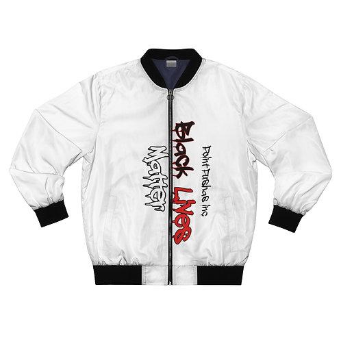 Black/Red HP Lives Matter Bomber Jacket