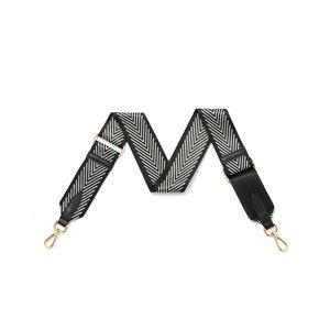 Black Chevron Detachable Fabric Strap