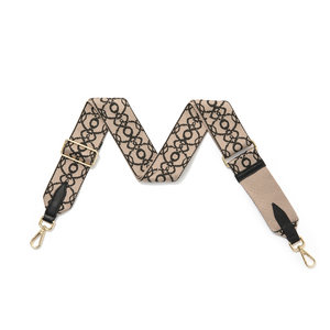 Black Chain Fabric Detachable Strap