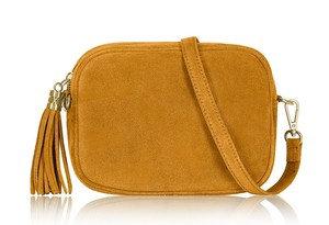 Mustard Yellow Soft Suede Tassel Bag