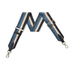 Blue Stripe Fabric Detachable Strap