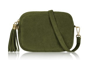 Olive Green Soft Suede Tassel Bags