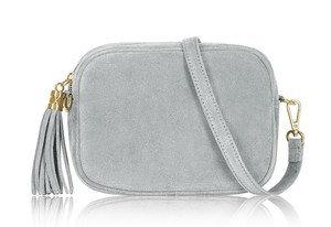 Smokey Grey Soft Suede Tassel Bag