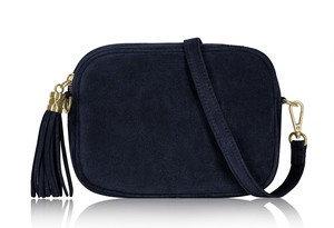 Classic Navy Soft Suede Tassel Bag