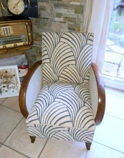 Restauration d'un fauteuil Art Déco par