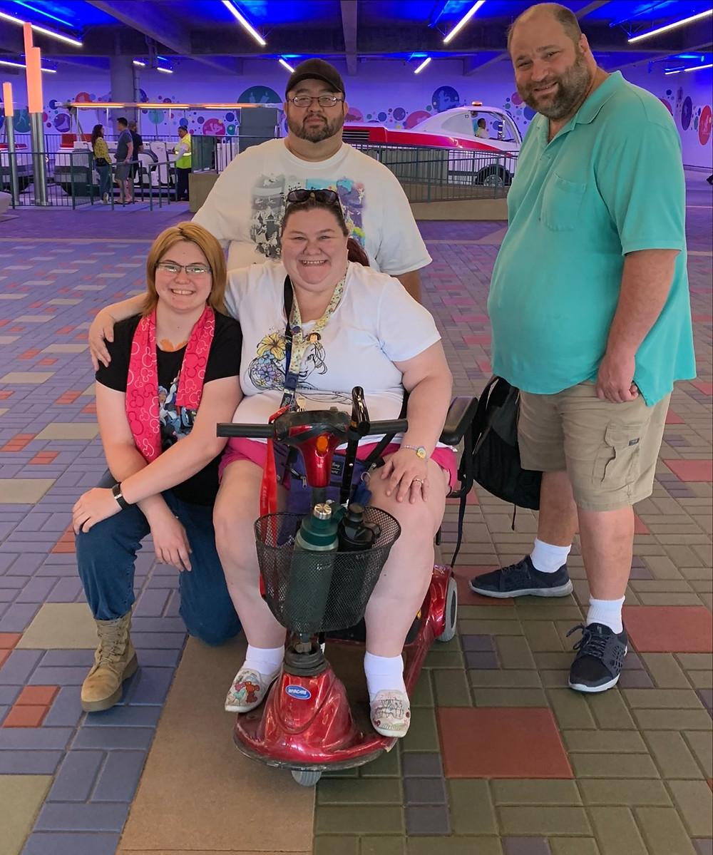 2 men and 2 women in the Disneyland Parking Area