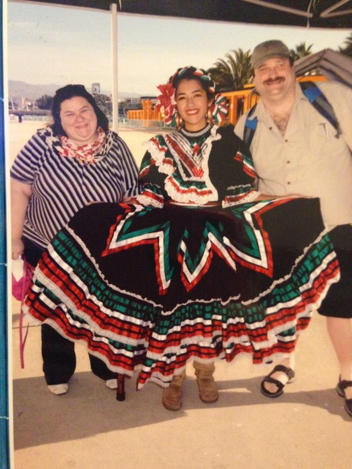 2 women, 1 male posing in Ensenada,MX