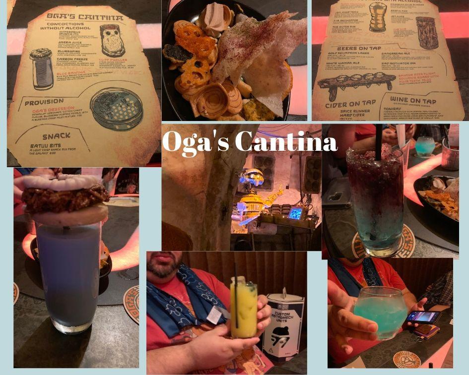 Disabled Disney drinks, Batuu bits and the menu from Oga's Cantina Galaxy's Edge Disneyland
